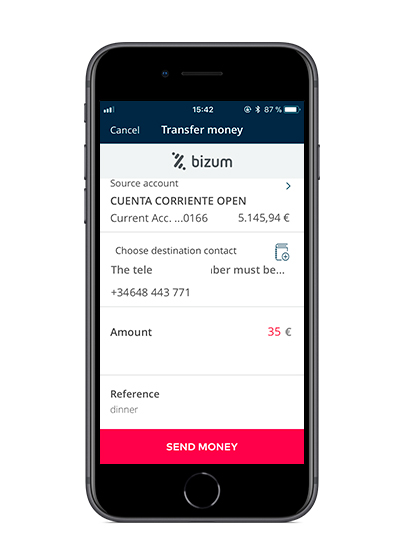 Activate Bizum in the Openbank App and enjoy the service